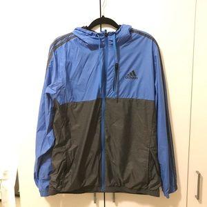 Black and blue Adidas windbreaker